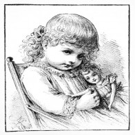 child with doll