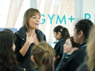 Nicola Benedetti teaches a workshop at Meadows Primary