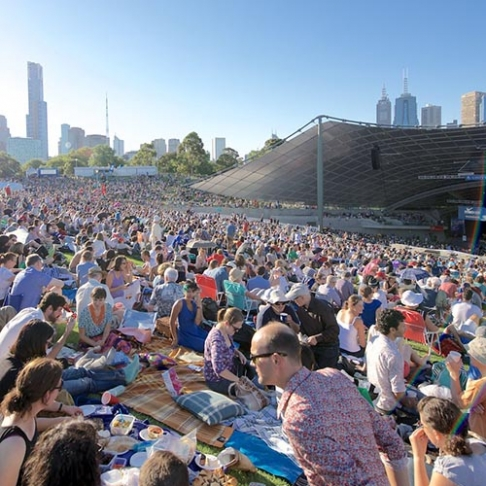 Crwd at Sidney Myer Free Concert