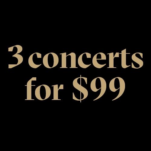Mondays 3 for $99
