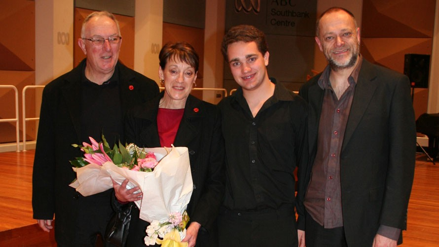 L-R Tim and Lyn Edward, Mathew Levy, Robert Cossom