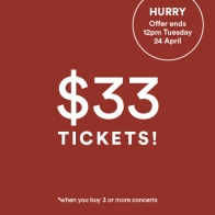 $33 Ticket Sale image