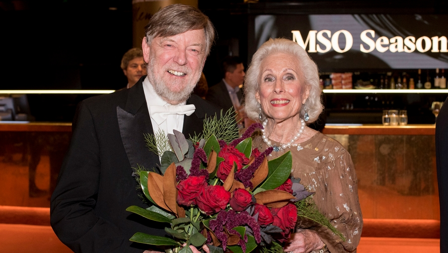 Chief Conductor, Sir Andrew Davis, with Lady Potter AC