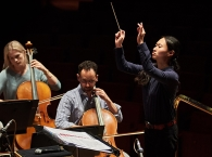 Tianyi Lu conducting the Orchestra during a rehearsal