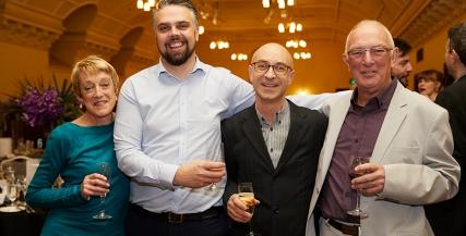 Pictured: Lyn Edward, Richard Shirley, John Arcaro and Tim Edward | Credit: Laura Manariti