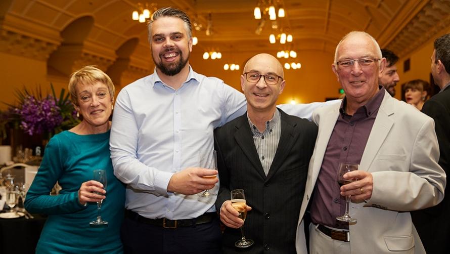 Pictured: Lyn Edward, Richard Shirley, John Arcaro and Tim Edward   Credit: Laura Manariti