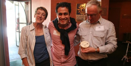 Diego Matheuz with Lyn and Tim Edward, Maestro Patrons